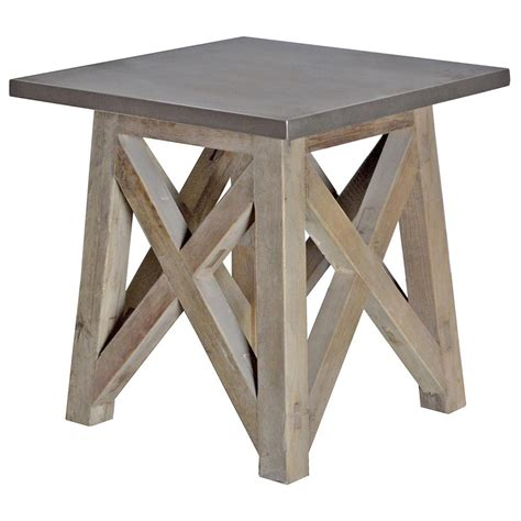 Zinc Side Table Zinc Side Table Zinc Industrial Side Table Eclectic Side Tables And Pictured Here Is The Axel