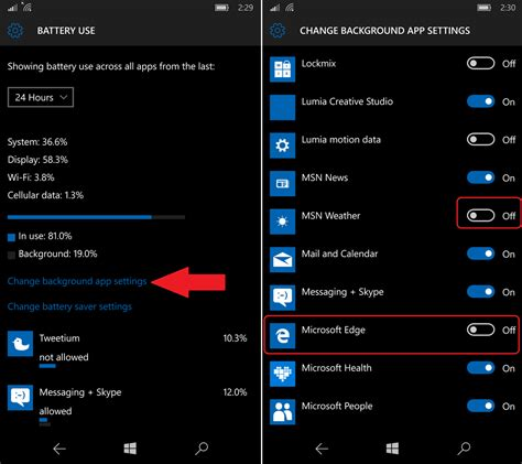 How To Check If Apps Are Running In Background Android How To Disable Background Apps For The Lumia 950 And Windows 10 Mobile Windows Central