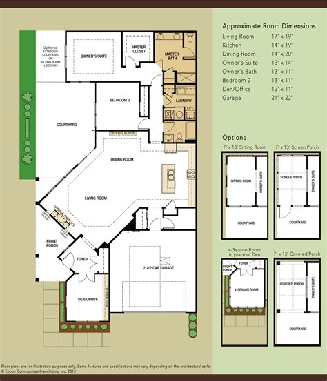 dimensioned floor plan villas at fox run floor plans colleen dahlstrom
