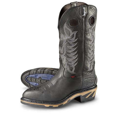 mens steel toed boots s tony lama 174 tlx 174 waterproof steel toe boots black