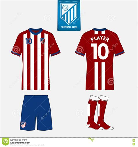 jersey design illustrator set of soccer jersey or football kit template for your