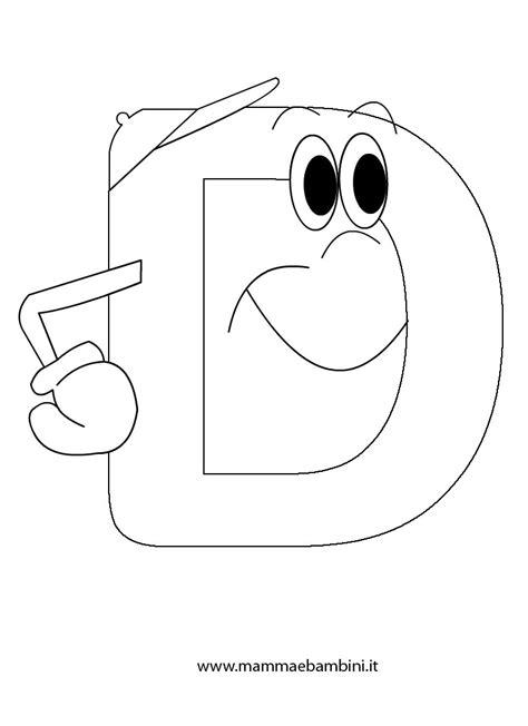 immagini lettere alfabetiere da stare la lettera d mamma e bambini