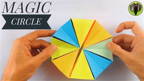 How To Make A Paper Magic Circle - magic circle diy origami tutorial by paper folds 121