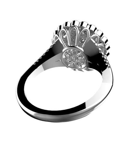 celtic ring 14k white gold celtic 1 ct