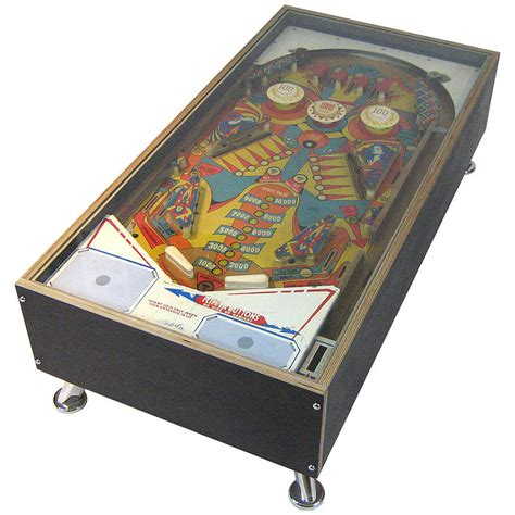 illuminated 1970s pinball coffee table sold by tilt