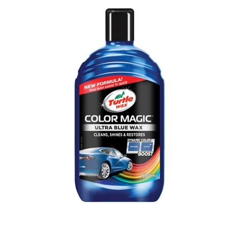 turtle wax color magic turtle wax color magic plus ultra blue 500ml 52709