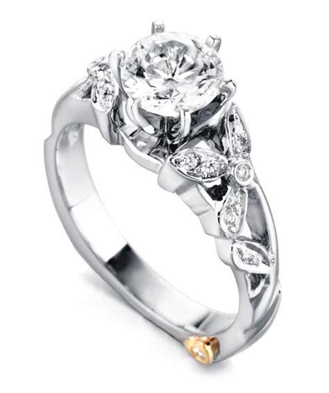 floral engagement rings flower wedding rings markschneider design