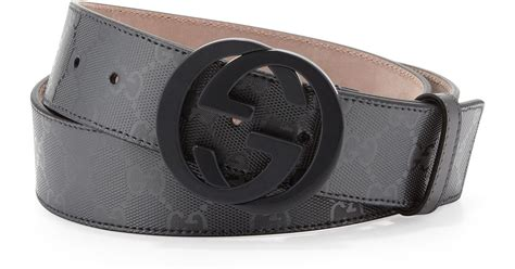 Guccix Pant gucci gg supreme canvas belt with interlocking g buckle in