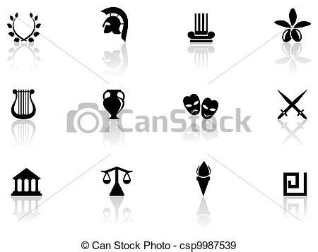 imagenes de simbolos griegos eps vectores de grecia s 237 mbolos csp9987539 buscar