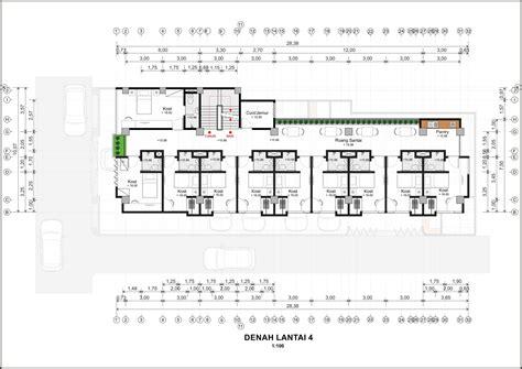 denah layout restoran photo denah lantai 4 wisma sarjana 3 desain arsitek oleh