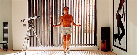 Christian Bale American Psycho Shower by Christian Bale Gif Find On Giphy