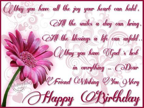 Happy Birthday Wishes For A Dear Friend Christian Birthday Wishes For A Friend Dear Friend