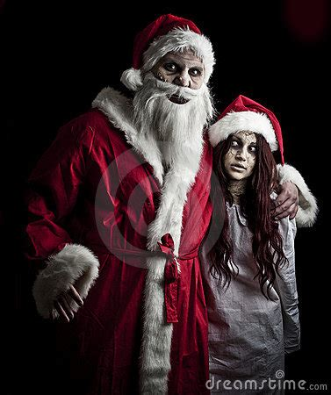 scary santa royalty  stock image image