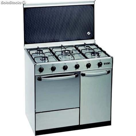 svan svk9550gbi cocina gas butano inox con portabombonas - Cocinas De Butano