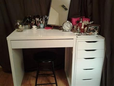black alex drawers vanity love my new vanity ikea s micke and 5 drawer alex