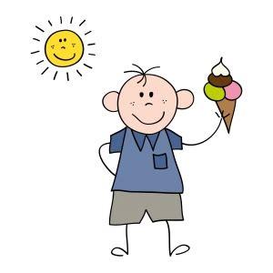 gambar kartun anak lelaki dengan es krim knock on my door