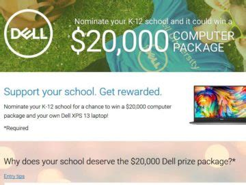 Computer Sweepstakes - dell k 12 20k computer giveaway sweepstakes