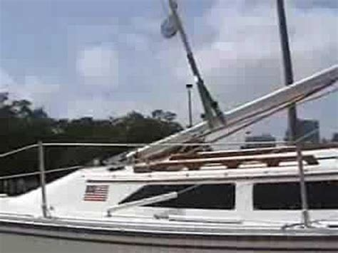 sailboat pole mast stepping catalina 22 1st take youtube