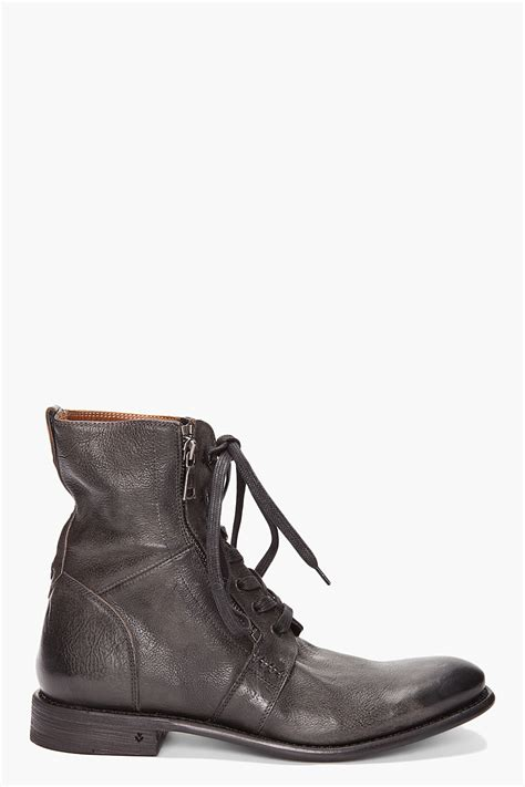 ago black side zip boots by varvatos varvatos ago boots in black for lyst
