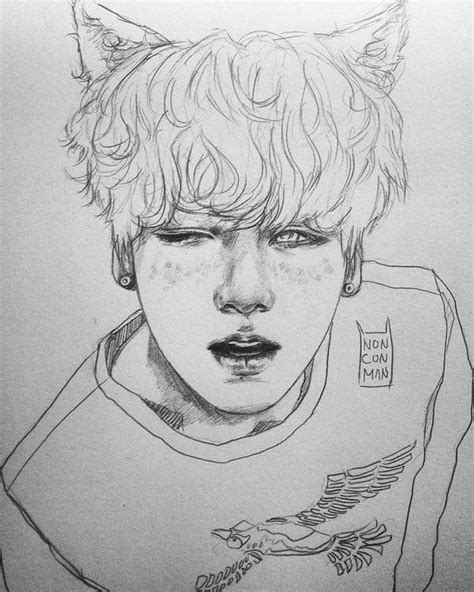 Kpop Sketches by встроенное 千卂几卂尺ㄒ Bts Fanart And Kpop