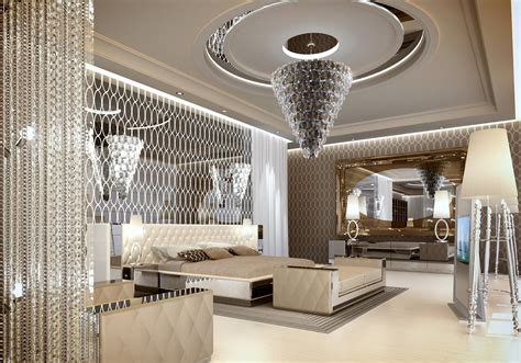 15 luxury bedrooms with magnificent chandeliers