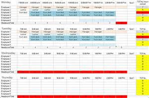 Employee Daily Work Schedule Template by Daily Work Schedule Templates Creative Template