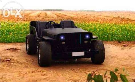 open jeep modified in black colour pin modified indian jeeps on pinterest