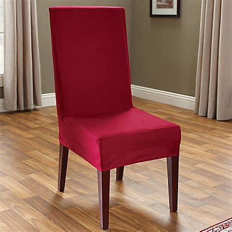 sure fit cotton duck short dining chair slipcover buy sure fit 174 duck supreme cotton short dining room chair