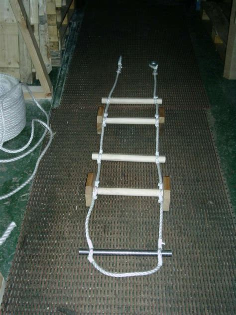 lifeboat ladder lifeboat boarding ladder with thimbles marine safety