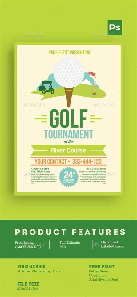 golf outing flyer template golf tournament flyer tlate events design and sports
