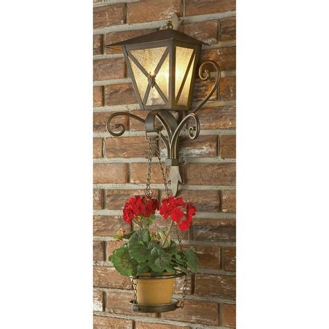 wall plant holders outdoor wall light with plant holder antique gold