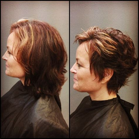 pixie hairstyles before and after before and after pixie hair cut photography art