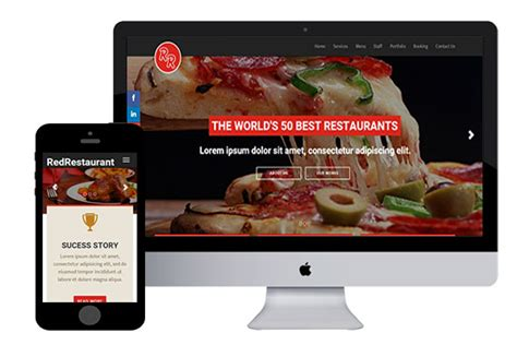 bootstrap templates for restaurant redrestaurant bootstrap html5 template html5xcss3