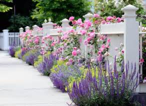 Pink Flower Garden Beautiful Flower Garden Pink Classic White Fence Design
