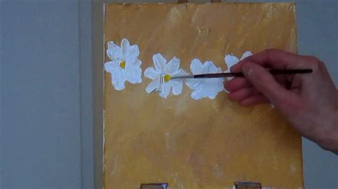 how to preserve acrylic paint on canvas tanja bell how to paint daisies acrylic painting blossom