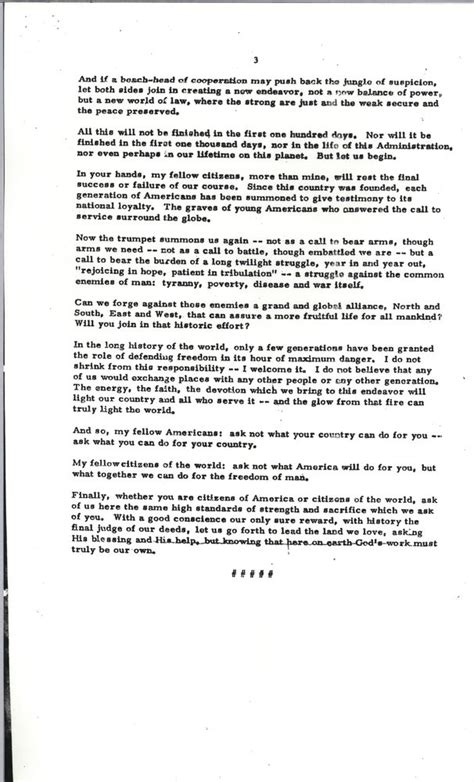 F Kennedy Inaugural Speech Essay by Essay On Jfk Jfk Inaugural Address Essay Pre Enrollment Material 1935 1936 Rhetorical Analysis
