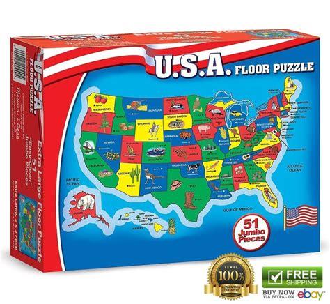 and doug usa map puzzle doug us map puzzles usa 51 pcs states floor