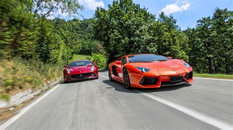 Lamborghini Aventador On The Road Slideshow Road Couture F12 Vs Lamborghini Aventador