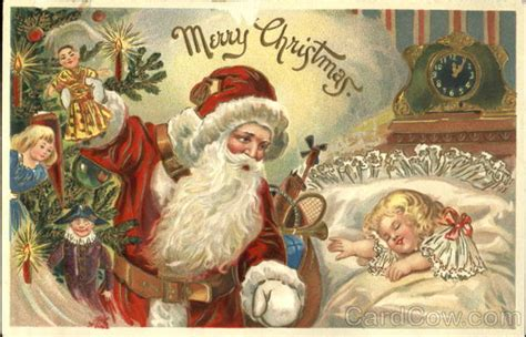 santa    sleeping child santa claus