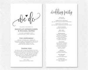 Free Printable Wedding Programs Online Wedding Program Printable From Bliss Paper Boutique