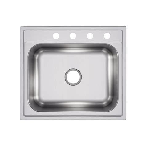 25 stainless steel kitchen sink elkay drop in stainless steel 25 in 4 single bowl