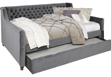 With Trundle Bed by Alena Charcoal 3 Pc Daybed With Trundle Karsyn