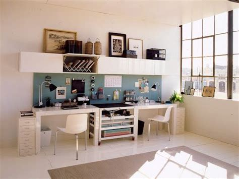 dual desk office ideas office space his hers home office ideas pinterest