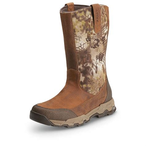s ariat waterproof fps pull on boots brown