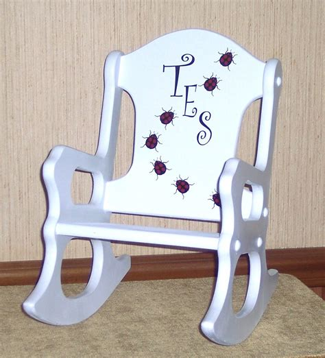 Toddler Personalized Chair by Personalized Toddler Rocking Chair Ladybugs By Weaverwood