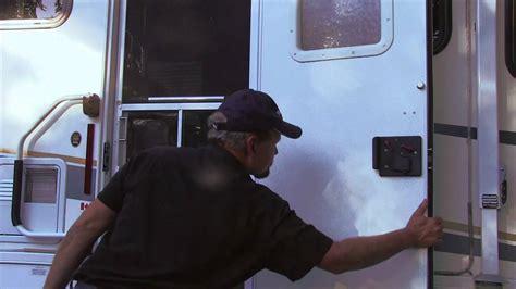 Adding Rv Style Door Latch To Enclosed Trailer - rv doors kinda