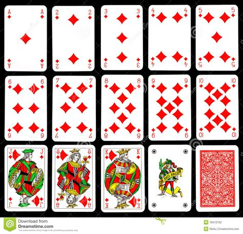 template for a dek of card bax speelkaarten diamant stock fotografie afbeelding 16412162