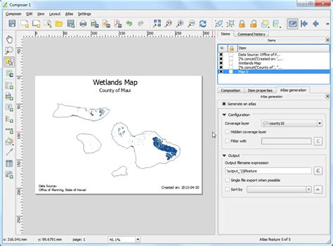 qgis layout templates automating map creation with print composer atlas qgis