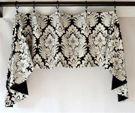 black and white swag curtains custom valance swag jabot design black white by