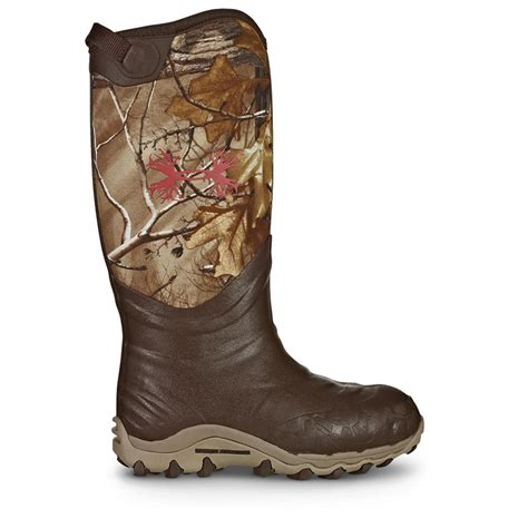 realtree boots s armour h a w 800 gram waterproof rubber